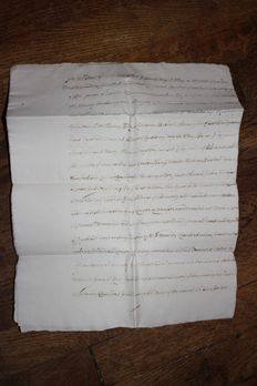 England, family Chambers - Copy of deed - 1657