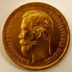 Russia – 5 Roubles 1902 – gold