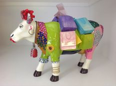 Cow Parade Ms. Moolevard on the Boulevard Resin EXTRA LARGE