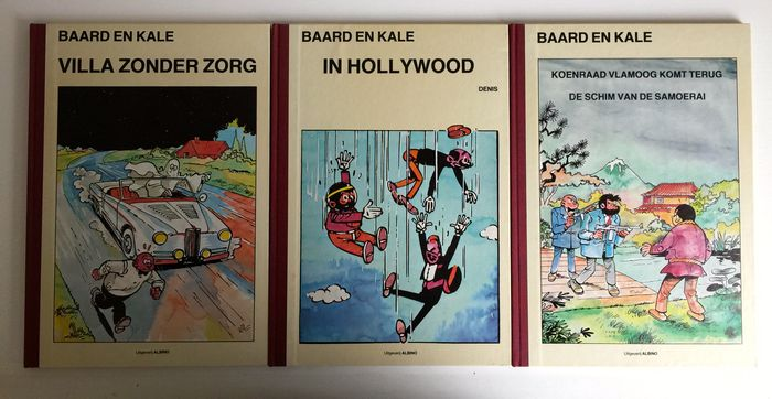 Baard en Kale - Albino editions 1-3 - hc with cloth spine - 1st edition reissue - (1982 / 1983)