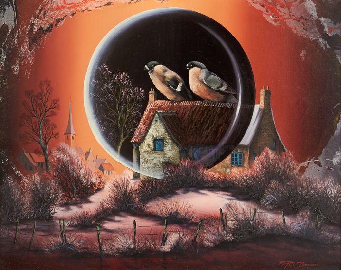 Paul Bill (1946-?) - Couple of bullfinches