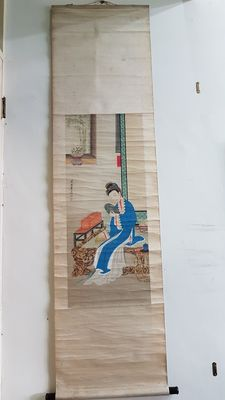A beautiful scroll painting - China - first half 20th century