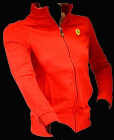 Ferrari effen rood sweatvest official merchandise, in absolute nieuwstaat