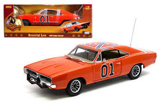 The Dukes of Hazard - Autoworld - Scale 1/18 - General Lee 1969 Dodge Charger - color orange