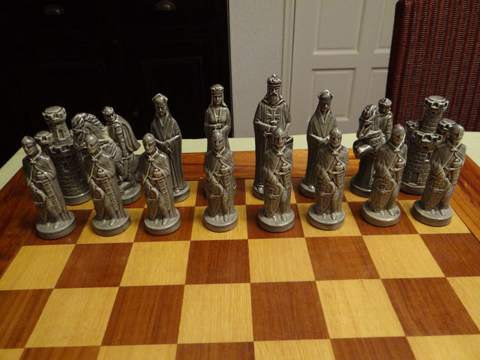 Large porcelain chess pieces