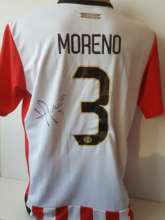 Hector Moreno - PSV - shirt 2015/2016 - hand signed + COA + photo of signing session.