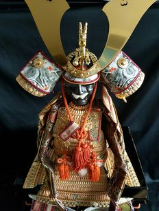 Japanese Samurai Armour in a doll size, 21st century, made according to ancient Japanese tradition – Japan – 21st century