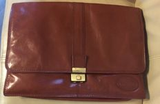 Luciano -  Genuine leather  briefcase with lock