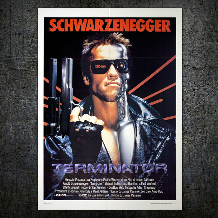 the terminator original italian movie poster 1984 arnold
