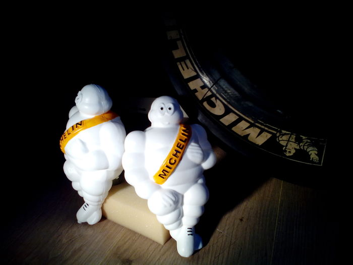 Set of 2 Michelin / Bibendum - hard plastic
