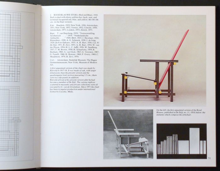 Daniëlle Baroni - The furniture of Gerrit Thomas Rietveld - 1978 + Construction model Rietveld Schröderhuis- 1983