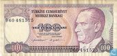 Banknotes - Turkey - 7th Emission - Turkey 100 Lira ND (1983/L1970) P194a2