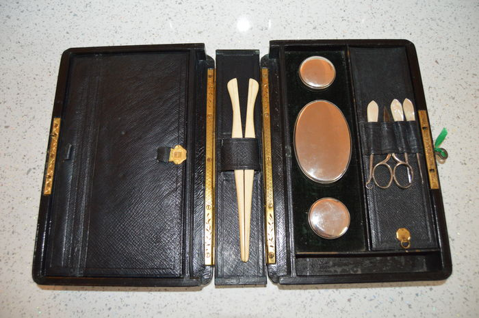 Victorian dressing case, vanity box- England, dated January 1861