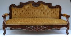 Baroque solid wood sofa - Italy, 20th C