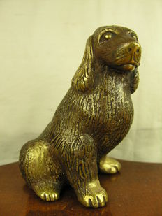 Bronze Figure of Dog / Puppy - approx. 2nd half 20th century or older