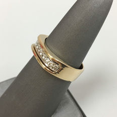 14kt yellow gold mens ring - .70 ct