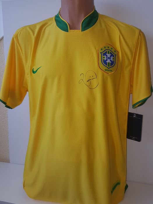Romario - Brasil, PSV, Barcelona - Shirt Brazilian national team -  original signed + COA.