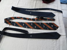 Bentley accessories; 3 Bentley ties, 2 pins and 1 Bentley sweater