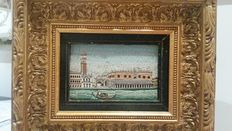 "micro mosaic depicting "" St. Marc square Venice "" Italy, 20th century"