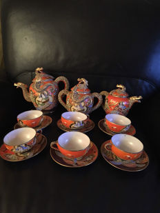 Satsuma tea set – Japan – 1950 / 1960
