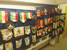 Masonic Rotary International lodge lot - more than 115 pieces on banners and Pennants-