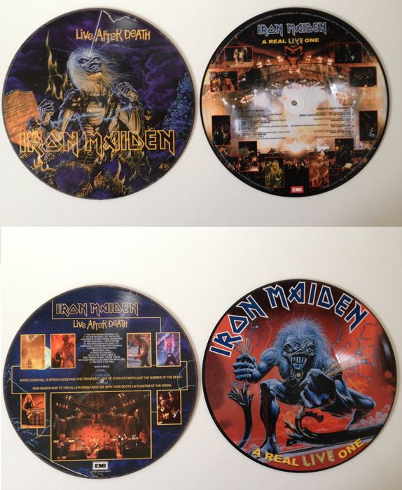 Iron Maiden Lot Of Two Very Collectable Picture Disc LP's