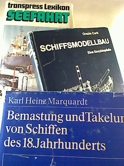 Lot with 3 books about ships - 1972/ 1988