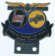 Castrol Vintage Car Club Bangkok Thailand Car Badge