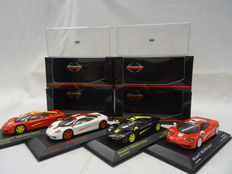 "Minichamps - Scale 1/43 - Lot with 4 McLaren F1 models ""Hekorsa-Edition"" in 4 Colours"
