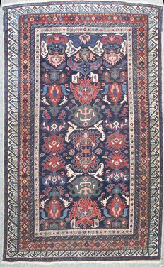 Shirvan Bidjov rug- rare antique , circa 1890.