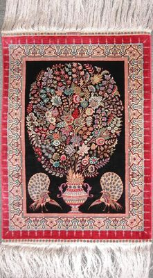 AMAZING TURKISH HEREKE SILK RUG