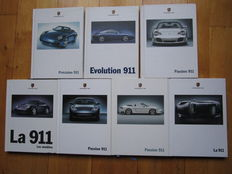 PORSCHE 911, lot of 7 catalogues from 1997 to 2004