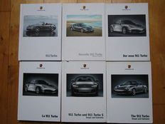 PORSCHE 911, lot of 6 catalogues from 2000 to 2009