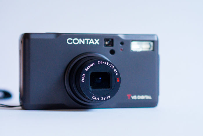 Rare Contax TVS Digital Black Titanium with ZEISS zoom lens, like new!