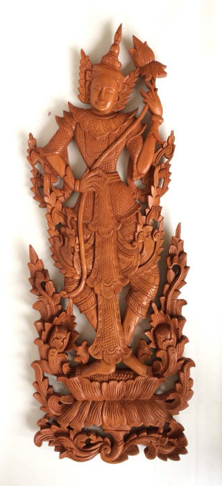 Large woodcarving panel - Bali - Indonesia - Second half 20th century