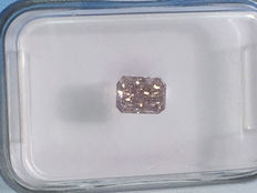 0.51 ct Radiant cut Diamond Fancy Intense  Purplish Pink