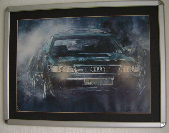Audi prints made of Lithographs by Michel Pont framed