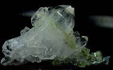 Unusual Faden Quartz Crystal Cluster with Chlorite inclusions - 82 x 149 x 45 mm - 363gm