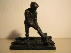 "Jaap Hartman - Signed and numbered bronze sculpture - ""De Rijswerker"""