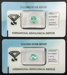 Emeralds – 2.44 ct in total (2)