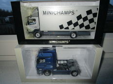 Minichamps - Scale 1/43 - Lot with 2 models: 2 x Mercedes-Benz Axor and Atego