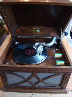 His Master's Voice Tabletop gramophone
