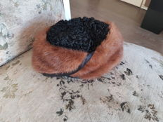 Fur hat – Vintage fur hat – Fox fur