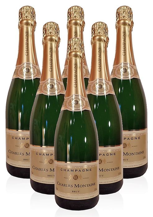 Charles Montaine Champagne Brut - 6 bottles (75cl)