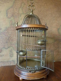 Bird cage made of bronze and brass - 1st half 20th century