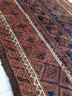 Handmade village rug: Beloutch 188 x 119 cm circa 1900!!