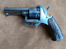 Original blued Lefaucheux pinfire revolver calibre 7 mm - ca. 1860