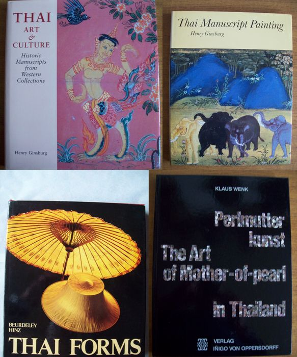 Lot with 4 books on art in Thailand - 1969/2000