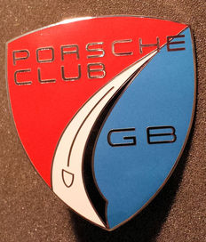 Porsche Club GB auto badge - Emaille afwerking