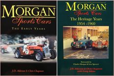 2 Books on Morgan Sports Cars : The Early Years and The Heritage Years 1954-1960